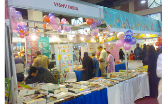 "When I looked at the name of stall ""VISHV INDIA"" it seems that they are Indian Publishers but when i asked them, Are you from India? Then Saleem Ahmed ""Director (School Project)""  said we are having the right of Distributing Books of VISHV INDIA and other foreign Publishers.  The Azeem Group of Publications was founded in 1990. They mostly publish Acadamic books. For more Detail you can visit: www.azeemacademy.pk"