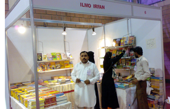 Mr. Gull Faraz owner of ILMO IRFAN Publication was not there but his Sales Representative Akbar Ali was there to handle the stall.  This Publishing Company was established in 1992 and they mostly Publish Novels & the big difference is that the majority of big Novelist's Novels are published by them.  When I asked Akbar Ali, what is difference between Karachi Book Fair and Lahore Book Fairs. He said, In karachi People are just coming for visiting the Book Fair and for window shopping but not for purchasing Books. For more Detail: www.ilmoirfanpublishers.com