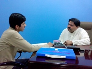 Moneeb Junior Interviewing Mr. Abdul Wahid