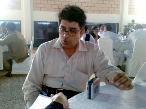Mr. Aleem Ahmed Editor-in-Chief Monthly Global Science Karachi. (21st September 2012 at Expo Center Karachi)