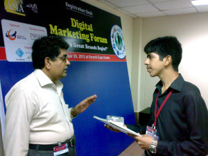 Interview of Mr. Aleem Ahmed with Moneeb Junior. (21st September 2012 at Expo Center Karachi)