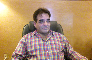 Mr. Makhdoom Babar while giving interview.
