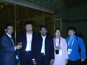 Mr. Aleem Ahmed with Most Senior Science Journalist of China, Jia Hepeng and with other Chinese Journalists. Melbourne, Australia. 2007