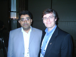 Mr. Aleem Ahmed with John Rennie Former Editor-in-Chief of Scientific American. Melbourne, Australia. 2007