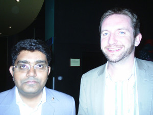 Mr. Aleem Ahmed with Mike Shanahan, this picture was taken when Mike was Editor of Science & Development Network. Melbourne, Australia. 2007