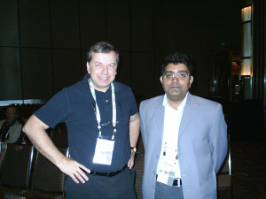 "Mr. Aleem Ahmed with Dr. Phillip Campbell (Editor-in-Chief ""Nature Publishing Group"") at World Conference of Science Journalist, Melbourne, Australia. 2007"