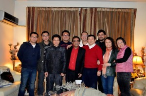 Mr. Makhdoom Babar Invited Chinese Journalists to Dinner on New Year Night 2014.